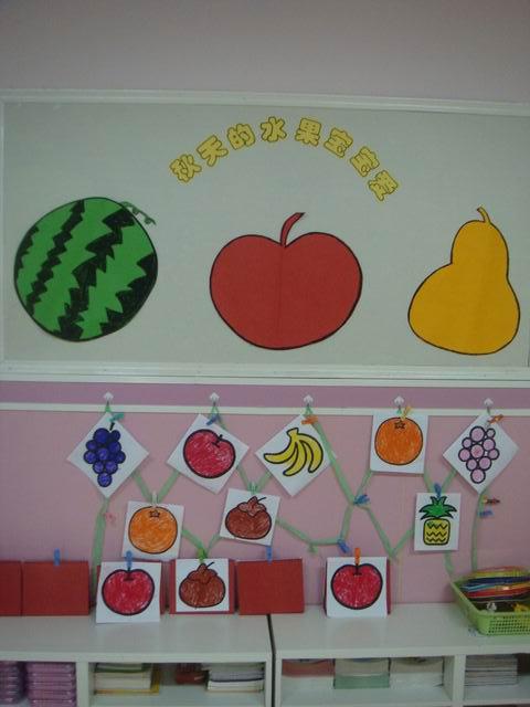 幼儿园蔬菜水果墙面贴画